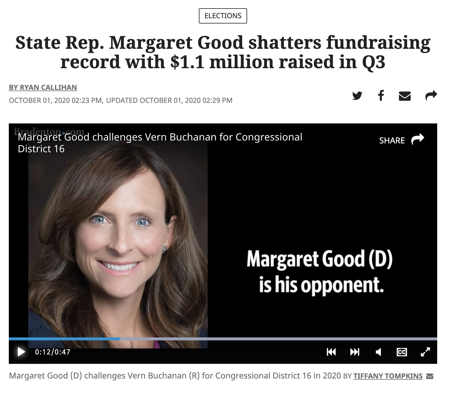 Bradenton Herald Margaret Good Fundraising