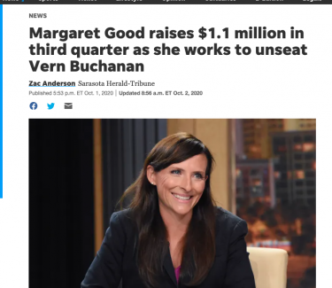 Margaret Good Sarasota Herald Tribune $1 million in donations